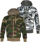 H3  Mens Army Military Camo Camouflage Zip Hoodie Hooded Jacket Top S-XXL