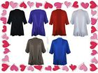 New Ladies Plus Size Open Waterfall Cardigan Womens Stretch Tops jumper shirt