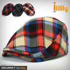 ililily New Mens Flat Cap Tweed Cabbie Hat Gatsby Ivy Irish Newsboy Caps c507