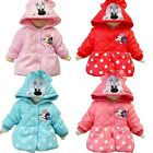 Xmas Baby Girls Minnie Dot Winter Coats Warm Jacket 1-5Y Outwear Hooded Snowsuit