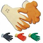 100 Pairs of Multi Purpose Protective Grab & Grip Gloves - Latex Palm Coated