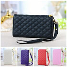 Leather Clutch Bag Wallet Purse Card Case Cover for Samsung Galaxy  S3 S4 I9500