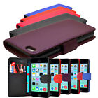 5 COLOUR PU LEATHER WALLET FLIP PHONE CASE COVER FOR IPHONE 5C