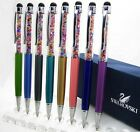 New Lot High Quality Rhinestone Mixed Colors Touch Screen Stylus Ball Point Pens