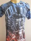 Minute Mirth Baby Devil  Tattoo Retro Vintage blue Men T-shirt M L