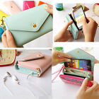 Multifunctional Envelope Handle Wallet Purse Phone Case for iPhone 5 5C Luxury