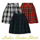 Ladies Womens Elasticated Waist Tartan Skater Skirt UK Size 8-14