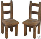 Rough Sawn, Rustic & Distressed Solid Pine Dining Chairs. Various Colours