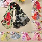 Hot Autumn Chiffon Women Bird Flower Print Shawl Scarf Scarves Wrap Stole Warm