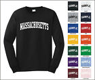 State of Massachusetts College Letter Long Sleeve Jersey T-shirt