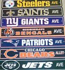 "NFL Football Team Street Sign 4"" x 24"" Flexible Plastic Ave Street Way All Teams on eBay"