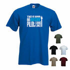 'This is what an Awesome Pilot looks like' Airline RAF Plane Funny T-shirt Tee