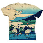 "Yizzam - Hokusai - ""36 Views of Mt. Fuji""-  New Men Unisex Tee Shirt"