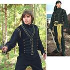 Pirate / Gothic, Black Vest - Perfect For Re-enactment Stage Costume & LARP