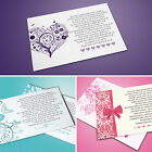 Personalised Wedding Poem Cards - Ask For Gift, Money Or Cash