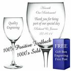 Personalised Engraved Wine Glass Bridesmaid Maid of Honour Mother of The Bride 1