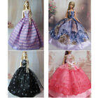 St Elegant Barbie Doll Clothes Wedding Evening Party Ball Dress lace Gowns Gift