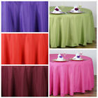 """108"""" Round Polyester Tablecloth Wedding Table Linens Decorations Supplies SALE"""