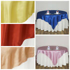 "15 Pack 90"" Square SATIN Overlays Wedding Table Reception Party Linens SALE"