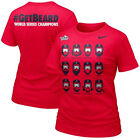 Boston Red Sox WOMENS 2013 World Series Champions #GETBEARD Shirt W/GOGGLES Red