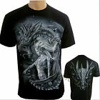 Mystical Dragon Biker  Motorbike Glow in The Dark  T Shirt