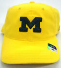 NCAA Michigan Wolverines Yellow Adidas Curve Brim Flex Slouch Logo Cap Hat NEW!