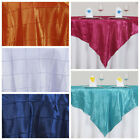 """10 pcs 72x72"""" Square Pintuck TABLE OVERLAY Wedding Linens Tablecloths Wholesale"""