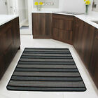 Small Large Modern Kitchen Rugs Blue Striped Flat Non Slip Hall Doormats CHEAP