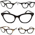 E32 CATEYE CAT EYE TEACHER  RETRO VINTAGE CLEAR LENS EYEGLASS SUNGLASSES WOMENS