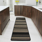 Natural Beige Black Thin Flat Weave Hall Mat Cheap Long Sisal Effect Runner Rugs