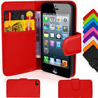 Leather Wallet Pouch Flip Case Cover For APPLE iPHONE 4 4S Free Screen Protector