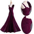 New Formal Long Evening Gown Party Prom Bridesmaid Dress Size 6-18 in stock