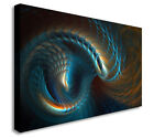 ABSTRACT ESSENCE OF TIME BROWN BLUE ART CANVAS