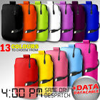 LEATHER PULL TAB POUCH SKIN CASE COVER AND DATA CABLE FOR VARIOUS LG PHONE