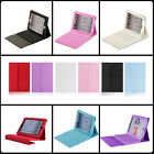 For Apple iPad Mini PU Leather Bluetooth Wireless Keyboard Case Cover With Stand