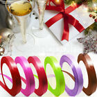 Candy Solid 17 Xmas Thin Wedding Festival Party Ribbon Grosgrain Satin 1CM*22M