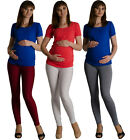 Very comfortable anatomical maternity pregnancy leggings long full length 8-16