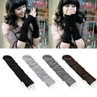New Winter Women Girls Soft Long Arm Hand Wrist Warmer Fingerless Gloves