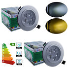 1/6/10x 1W LED Recessed Ceiling Fixture Light Lamp Spotlight Kit Day/Warm White