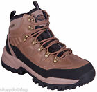 Mens lightweight leather waterproof walking hiking trekking boots