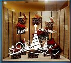Christmas Tree 5 Ribbon Shopwindow Show Window Wall Art Decoration Sticker Decal