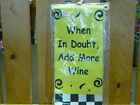 Funny Kitchen Hand Towel - You Choose Saying * NEW