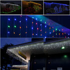 240V Plug 500CM LED Curtain Icicle String Fairy Light + 8 Changing Mode Outdoor