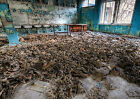 Chernobyl, Pripyat. Gas mask room. Art Print Poster A3,A4, Abandoned places
