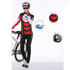 Women Fleece Thermal Winter Bike Bicycle Clothing Cycling Jersey + Pants CC0208