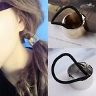 European Metal Circle Hair Cuff Pony Tail Elastic Rope Band Hair Holder Ring