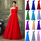 STOCK Long Chiffon Formal Evening Party Ball Gown Prom Bridesmaid Wedding Dress