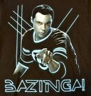 Big Bang Theory BAZINGZA! Black T-Shirt Officially Licensed Merchandise