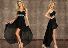 New Fashion Lady Sequin Bandeau Tulle Skirt Tail Clubwear Cocktail Party Dress