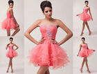 Sweetheart Homecoming Wedding Bridal Ball Cocktail Evening Prom Mini Party Dress